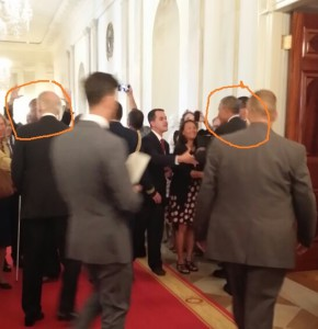 Backs of heads - POTUS, V-POTUS